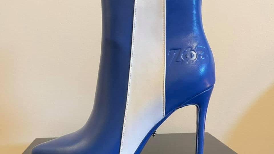 ΖΦΒ Genuine Leather Debossed Boots