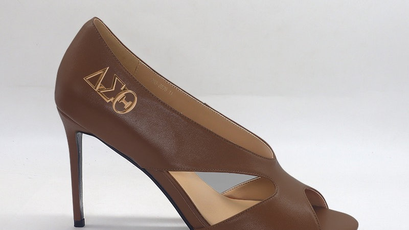 ΔΣΘ  Mocha Genuine Leather 4in heels
