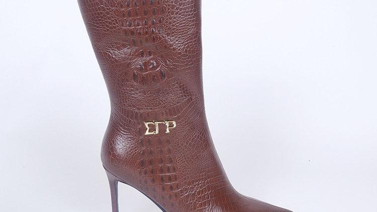 ΣΓΡ Brown Genuine Leather Boots Ships December 20th