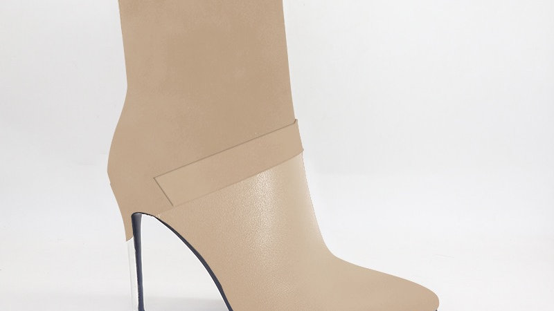 Beige Suede/Genuine Leather 4in Boots