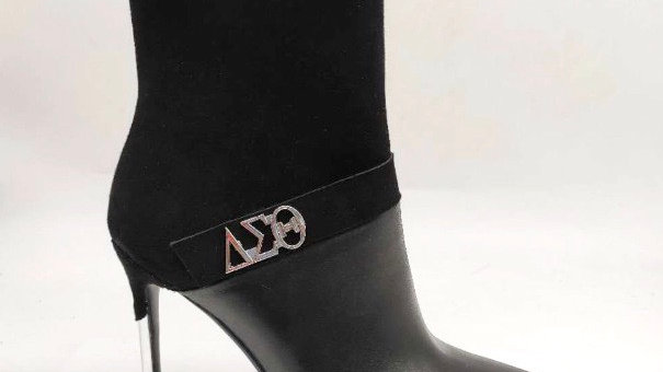 ΔΣΘ Black Suede/Genuine Leather 4in Boots