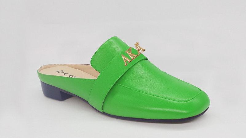 AKA Green Genuine Leather Flats