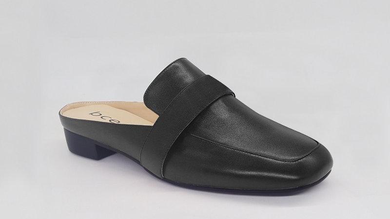 Black Genuine Leather Flats