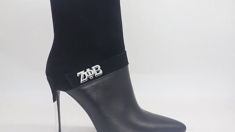 ΖΦΒ Black Suede/Genuine Leather 4in Boots