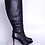 Thumbnail: ΔΣΘ Black Genuine  Leather 4in Boots