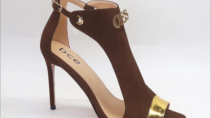 OES Chocolate Genuine Leather/Suede heels