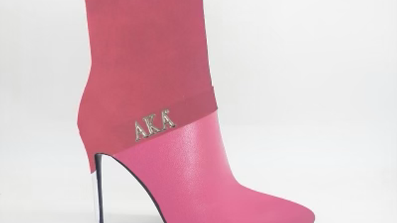 AKA Pink Suede/Genuine Leather 4in Boots