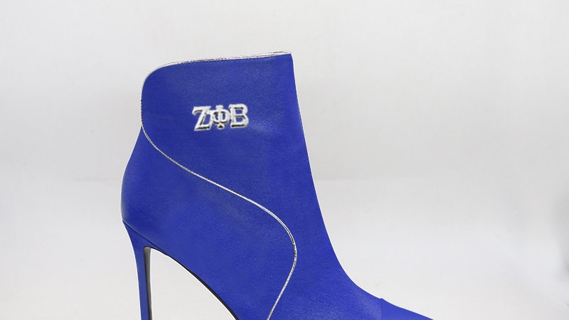 ΖΦΒ Blue Genuine  Leather 4in Boots