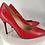 Thumbnail: Red ΔΣΘ Genuine Leather Debossed heels