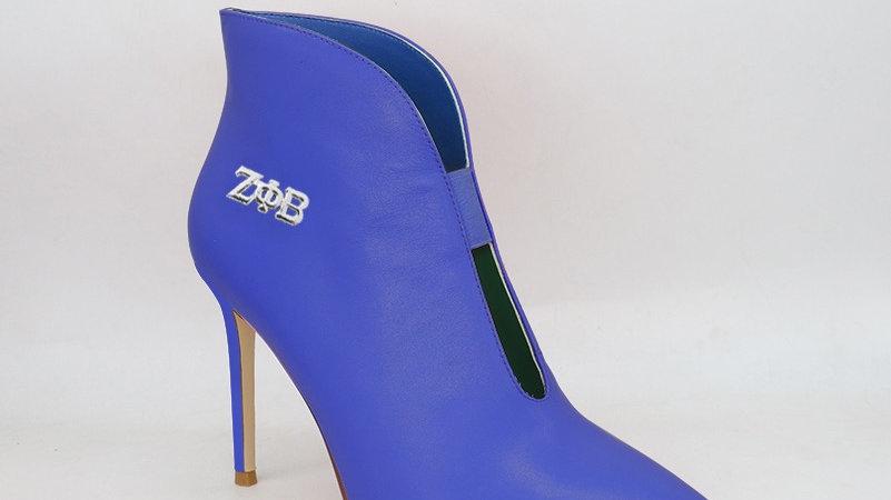 ΖΦΒ Genuine leather 4in heels -Ships in 45 days