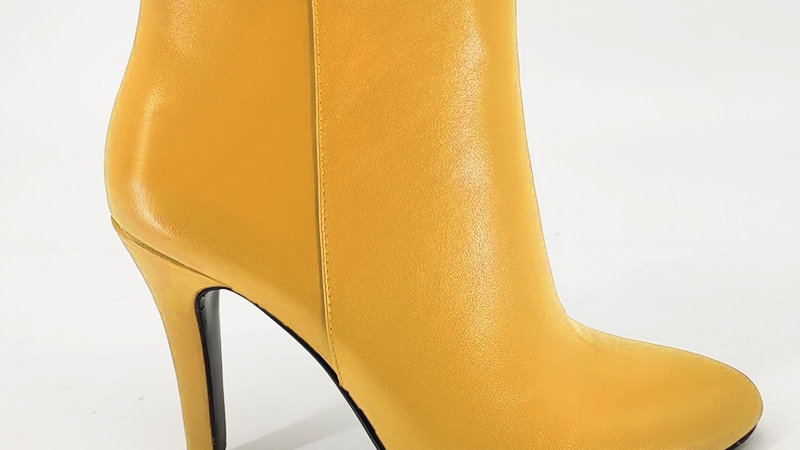 Yellow Genuine Leather Boots
