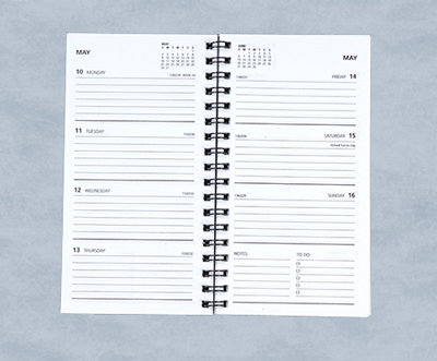 Ruled Weekly Planner - refill