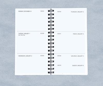 Pocket Weekly Planner -Refill