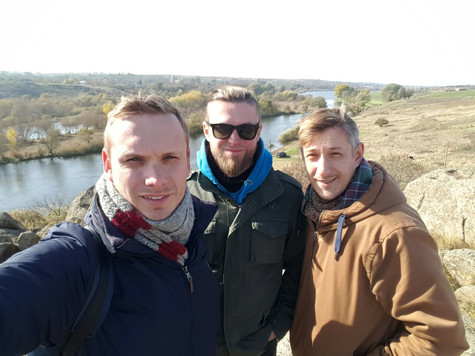Three brothers alongshore of Pivdennyi Buh river