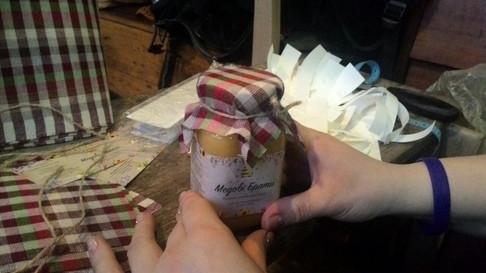 Each jar is a handmade