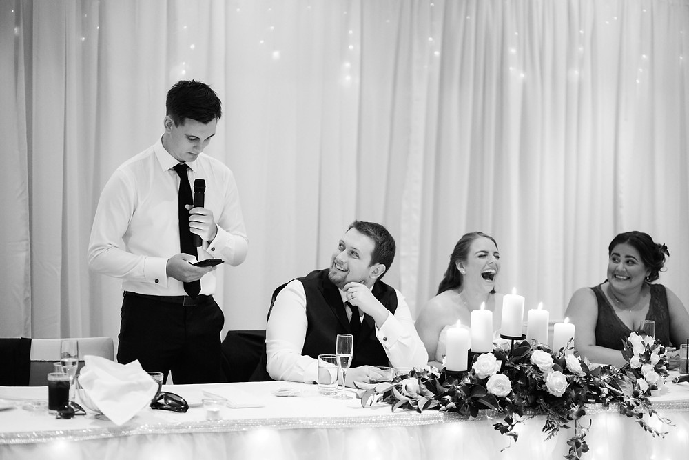 It's best to print your speech or you might look like you're texting in photos. Photo by Jason De Plater Photography.