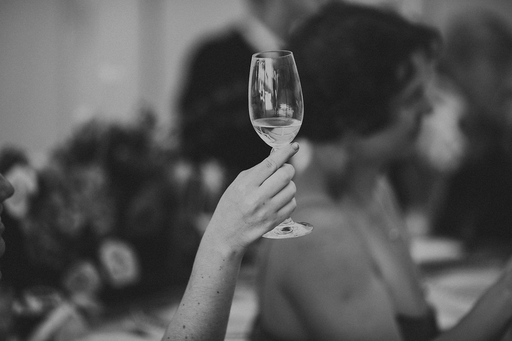 A toast! Photo by Thomas Stewart Photography.