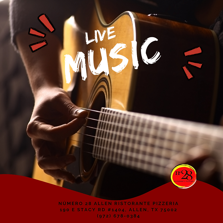 Join us tonight with live music!
