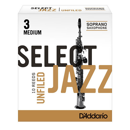 D'addario Select Jazz Unfiled Soprano Saxophone Reeds