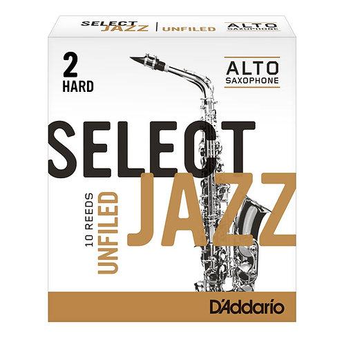 D'addario Select Jazz Unfiled Alto Saxophone Reeds