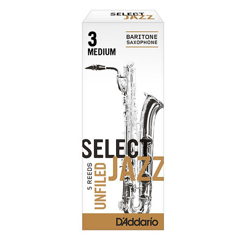 D'addario Select Jazz Unfiled Baritone Saxophone Reeds