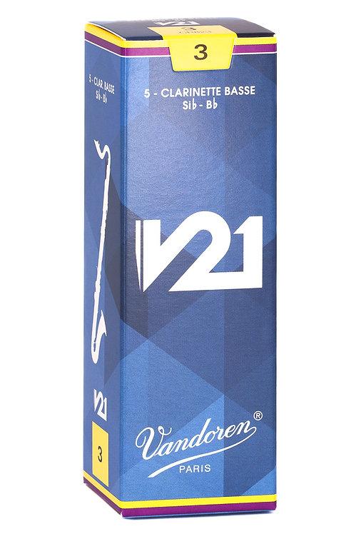 Vandoren V21 Bass Clarinet Reeds