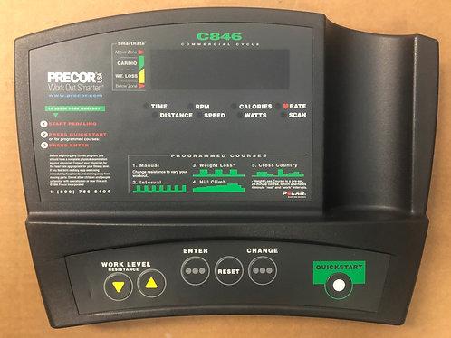 Precor Fitness C846 console / overlay /39368-101