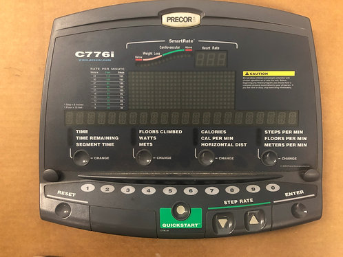 Precor Fitness C776i console face plate with upper PCA /38393-101