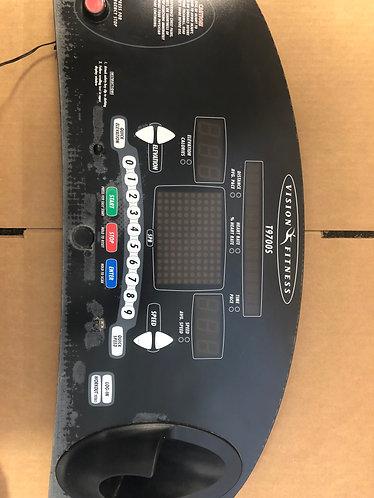 Vision Fitness T9700s treadmill console / overlay / upper board TM243