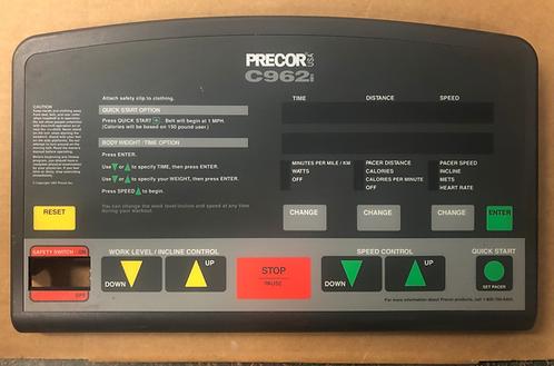 Precor Fitness C962i console / overlay /38062-105