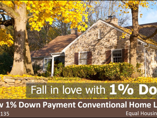 Fall in Love With a 1% Down Payment on Your New Home