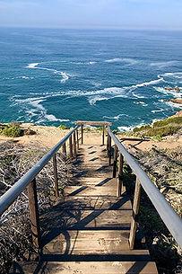 Steps onto an oceanside path