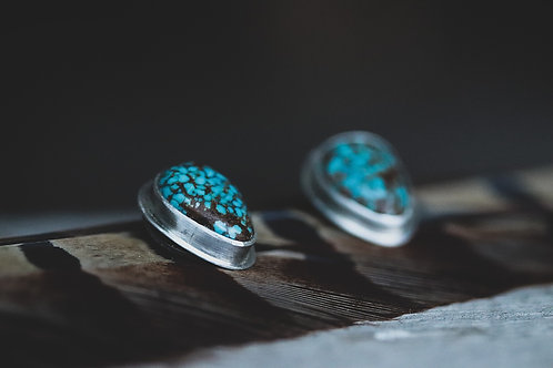 Back to Basics Turquoise Stud Earrings