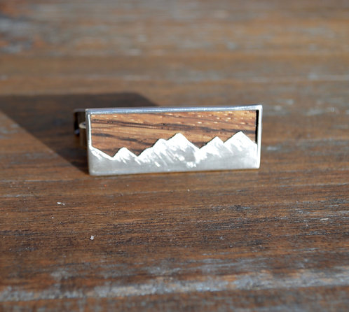 Snowy Mountains Tie Bar
