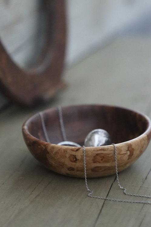 Small Apple Wood Treasure Bowl