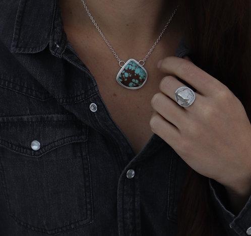 Back to Basics Hunk of Turquoise Necklace