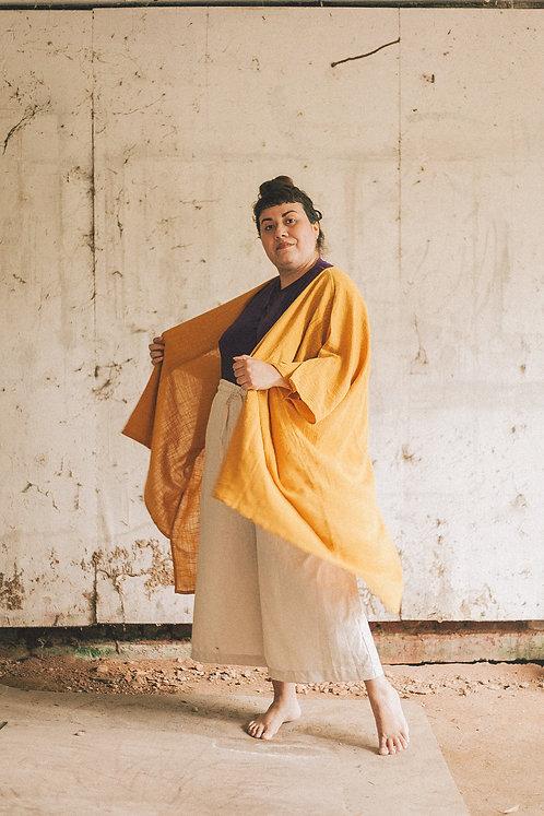 Kimono amplo- Mostarda