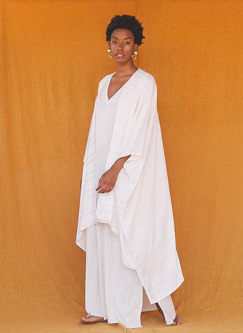 Kimono amplo- Listras natural