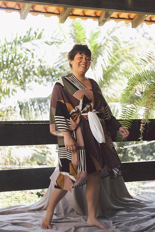 Kimono amplo- Geometria