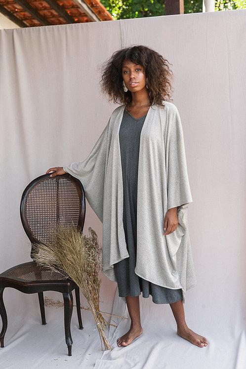 Kimono tricot- Cinza