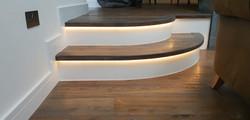 Bespoke curved oad top steps