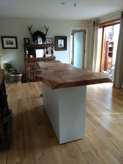 Oak top bespoke bar