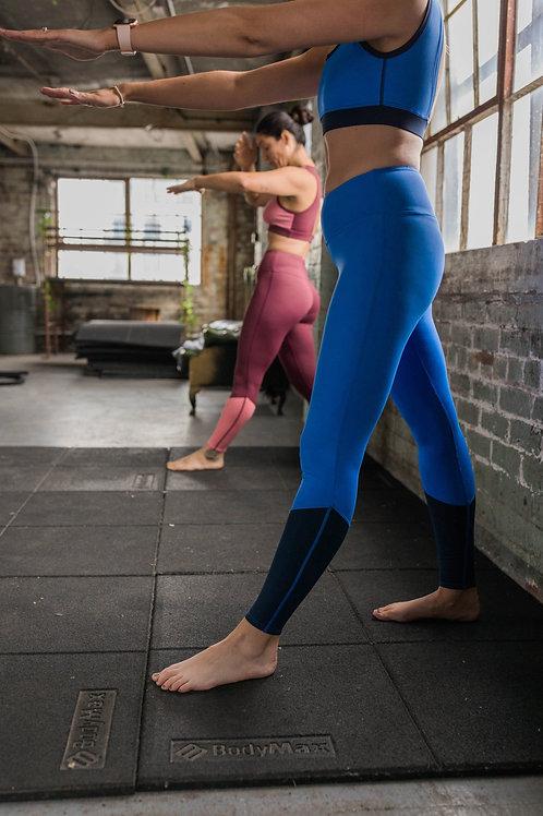Blue high waist performance Leggings