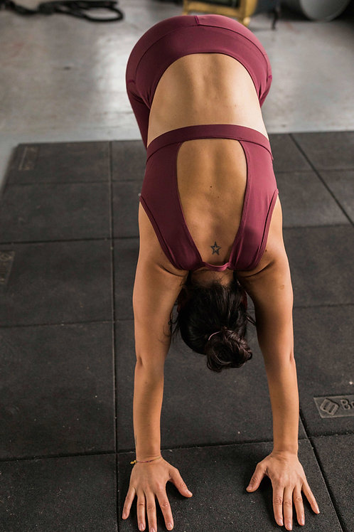 Pink Backless Light Support Sports Top