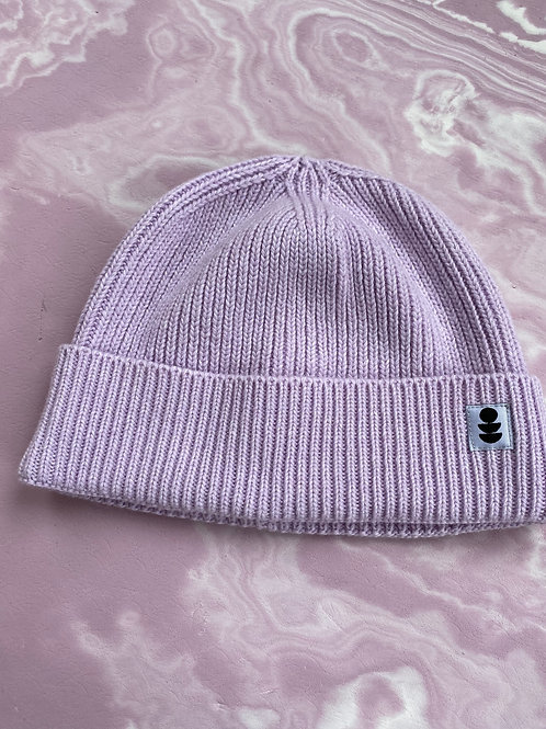 Lilac Beanie made from 100% Recycled Yarn