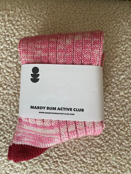 Pink Marl Wool socks
