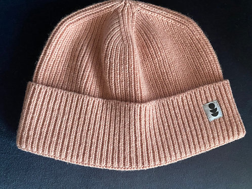 Antique Rose Pink Beanie made from 100% Recycled Yarn