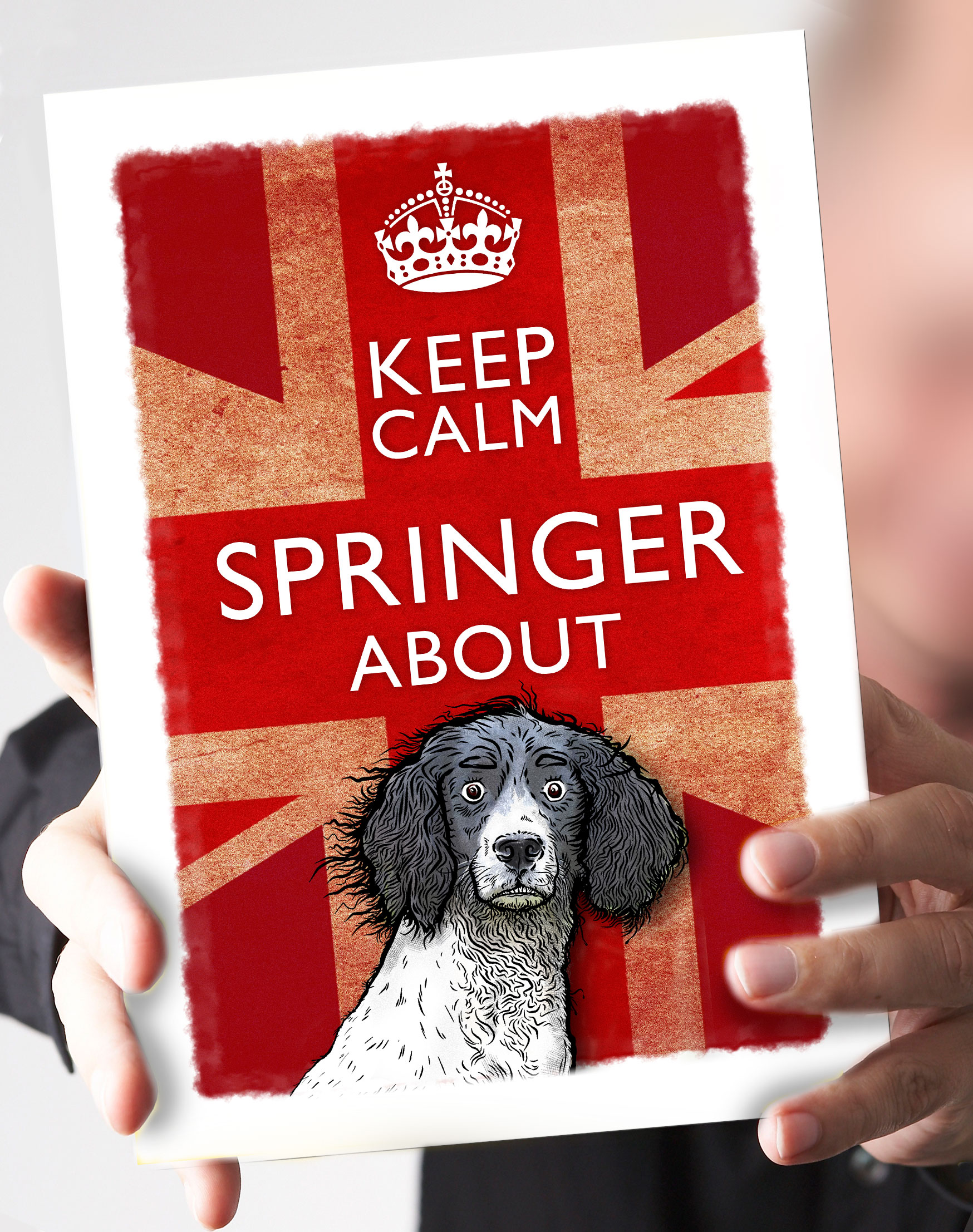 27-Keep_Calm_Springer_black_and_white_springer