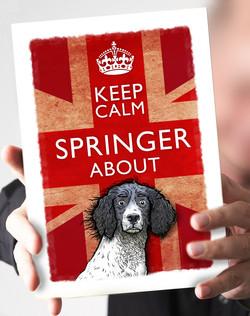 27-Keep_Calm_Springer_black_and_white_springer