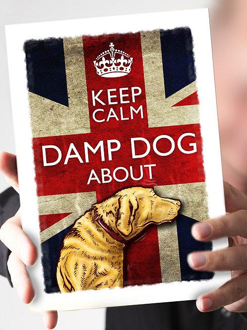 "Ref 28 – ""Keep Calm –  DAMP DOG about"""